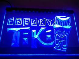 Wholesale LM092 b Freaky Tiki Bar Mask Pub Beer Neon Light Sign LED Light Sign