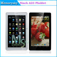 Wholesale Cheap inch G phone Tablet Allwinner A23 Dual Core Tablet PC Capacitive Screen Android M GB Dual SIM slot Bluetooth phablet
