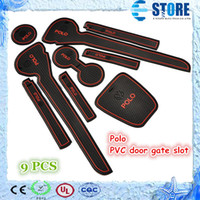 pvc door - VW Volkswagen Polo PVC door gate slot pad mat tank gasket cup mat pad auto accessories color M
