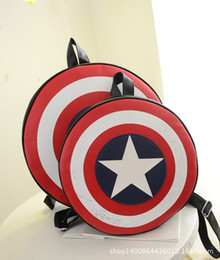 designer backpacks 2016 Unisex Cool Casual Backpack School Bag American Captain Shield Five-pointed Star New Fashion Lovers Style 2 Sizes