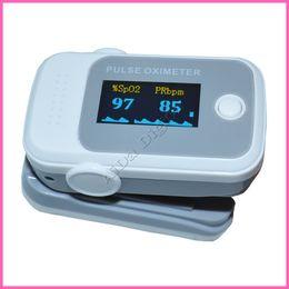 Wholesale Freeship units FDA Health care gray color OLED Fingertip Pulse Oximeter Blood Oxygen SPO2 PR saturation oximetro monitors