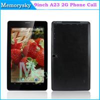 Precio de Tablet 9 inch-9 Pulgadas A23 de Doble Núcleo, Cámara de Teléfono Tablet Android 4.2 Allwinner A23 1.5 Ghz 2G GSM WIFI Llamada de Teléfono 512 mb de RAM 8GB Tablet PC AMPE A92 002364