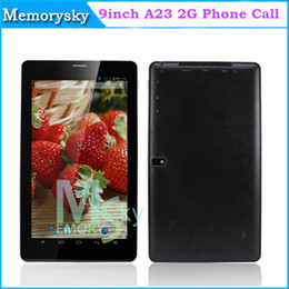 Wholesale 9 Inch A23 Dual Core Camera Phone Tablet Android Allwinner A23 Ghz G GSM WIFI Phone Call MB RAM GB Tablet PC AMPE A92