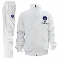 Wholesale Paris Saint Germain PSG Soccer Track Suit New Arrival Men White Sports Set High Quality Soccer Jackets Soccer Pants Best Sweat Suit