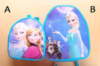 EMS Free Shiping Frozen Anna Elsa baby girl boy cartoon scho...