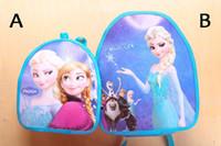 EMS Free Shiping Frozen Anna Elsa baby girl boy cartoon scho...