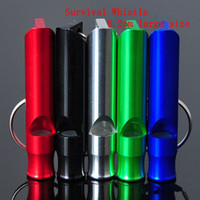 Wholesale 6 cm Emergency Whistle Large Size Aluminum Alloy Keychain Loud Lightweight Survival Whistles