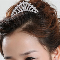 Tiaras fashion rhinestone crown - Only Cheap Fashion New Style New Girls Headband Hair Clips Rhinestone Jewelry Silver Plated Crown