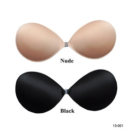Wholesale Cheap Top Quality New Black Nude Strapless Backless Invisible Self Adhesive Silicone Breast Bra Pad Cup Bridal Undergarments