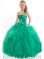 Wholesale 2015 little kids flower girls pageant dresses ball gown party holiday festival Sequined Sweep Train Cap sleeve Layered Long Sleev