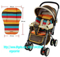 Soft baby foot muff - Baby Stroller s Sleeping mat Pram Stroller STRIPED Design stuffed cotton Bed Car Seat Pad for babie kids foot muff