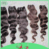 Wholesale Cheapest queen hair low price bundles body wave peruvian human hair weaves colored wefts UPS shipping