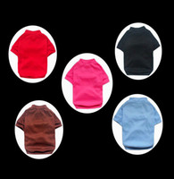 Wholesale Retail Colors Sizes Available Blank Dog Short sleeved T shirt Fashion Pet Clothes off for