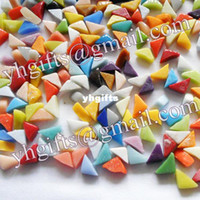 Wholesale 500PCS Gram Irregular mosaic tile Mixed color Handmade accessories Craft material Home ornament x1 x0 cm