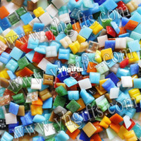 Wholesale 1500PCS Gram Mixed color mosaic tile Mosaic lantern Marble mosaic DIY mosaic flowerpot Craft material cm Freeshipping