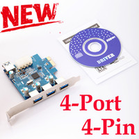 Wholesale SuperSpeed Mini USB USB3 PCI E PCI PCIE Express Card Port with pin IDE Connector for Computer amp Networking Free Ship