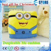 Wholesale BEST CHRISTMAS GIFT Soft Plush toys Despicable Me pillow Fedex free wu