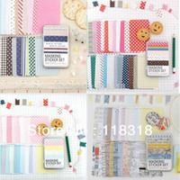 Wholesale off per DIY Scrapbooking Cute Diary Paper Tin Box Wedding Photo Frame Stickers Notebook Crafts Sticker