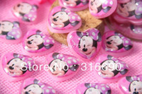 Resin Folk Art China Very Kawaii Smile Mickey Mouse Cabochons Resin Flatbacks Scrapbooking Hair Bow Center Crafts Making Embellishments DIY