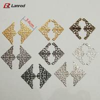 craft embellishments - T7 Mixed Colors Shapes mm Filigree Metal Decorative Corner Embellishments Wedding Craft Scrapbooking decoration