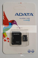 Wholesale Adata GB Class Micro sd card TF Memory Card for cell phones with Free Adapter and Blister Package muiltmedia storage