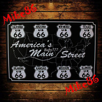 Wholesale Mike86 Black and White Route US Metal Plaque Gift PUB Metal Painting Craft Bar House Decor B Mix order CM