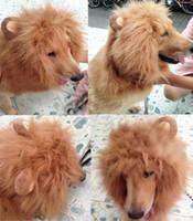 festival clothing - New Arrival Large Pet Dog Cat Lion Wigs Festival Puppy Party Fancy Dress Clothes Costume Mane Hair