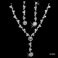 Haute qualité 2014 vente chaude alliage plaqué strass bijoux en cristal set - mariée, mariage, demoiselle d'honneur, prom