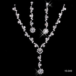 Mariage met en vente en Ligne-Haute qualité 2014 vente chaude alliage plaqué strass bijoux en cristal set - mariée, mariage, demoiselle d'honneur, prom
