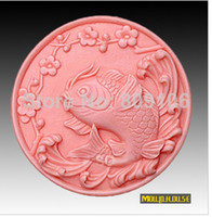 Cheap Wholesale retail,free shipping,carp clay pottery mould handmade soap silicone cake mold baking molds