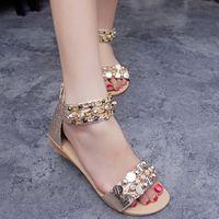 new arrival 2015 retro women rivet studs Roman sandal Young girl FASHION thick trifile casual shoes