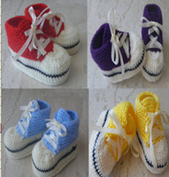 Wholesale 6 OFF All Star Knitted Baby booties Knitted baby shoes Baby Converse shoes size and color variations BABY shoes HOT SALE pairs