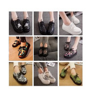 Wholesale 2014 N Fashion Black Suede British Goth Punk Creepers Flats Hot Sale Lace up Skull American USA Flag Boat Shoes p614