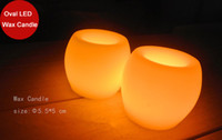 Wholesale funlife Hot sale quot Mini Oval wedding party anniversary candle paraffin wax ivory flameless led candle