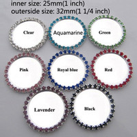 Wholesale mm Inner Setting Blank with Rhinestones Metal Button Cap Flatback For Bows DIY BYM01013