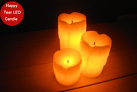 Wholesale funlife Hot sale quot quot quot wedding party candle happy tear ivory led candle paraffin wax candle decor