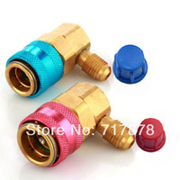 Wholesale AC R134a Quick Connector Adapter Coupler Auto Car Air Conditioning Low High HVAC