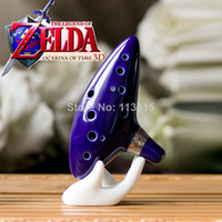 Open C ZLD01 Legend of Zelda Ocarina of Time 12 Holes Mediant C Tone Ocarina Zelda cosplay High Quality free shipping