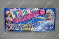 Wholesale frozen Loom Bands set Fun DIY Loom Rubber Kit Colorful Bracelets Charm Bracelet For Children Toy Gift