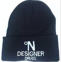 drugs - Knitted Beanies with Letters for Unisex Acrylic Hats Designer Drugs Winter Hiphop Hats Mixed Order Drop Shipping