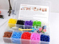 5-7 Years Multicolor Rubber New Loom Bands Kit for Kids DIY Bracelets Clear PVC Box Set (2000 Rubber Bands +48 S Clips or C Clips +1 Hook +10 Charms + 1 Loom) RL25