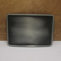 belt buckle blanks - BuckleHome rectangle blank DIY belt buckle with pewter finish FP with continous stock