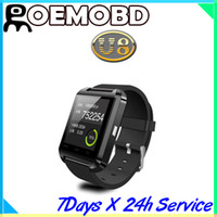 Wholesale 2014 Bluetooth Smartwatch U8 U Watch Smart Watch Wrist Watches for iPhone S S Samsung S4 S5 Note Note HTC Android Phone