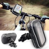 Wholesale 4 quot Waterproof GPS Phone SatNav Case Motorcycle Motorbike Bike Handlebar Mount Holder car