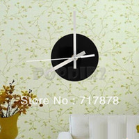 Mechanical Wall Clocks  Black Quartz Wall Clock Movement Mechanism 3 White Hands DIY Repair Parts Kit Free Shipping