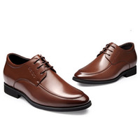 Wholesale Male elevator shoes men s cm male elevator leather business formal shoes men s Dress Shoes Genuine leather shoes Size M3047K