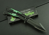 Wholesale Crazy zombie flail Butterfly flail camping folding knife Training knives