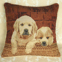tEco Friendly 100% Cotton Embroidered Cushion Cover Red Dogs Fabric Rug Carpet Morocco Pillow Case Sofa
