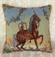 tEco Friendly pit bull - Cushion Pillow Cover Framed Labrador Pit Bull Terrier Poodle Sofa New With Horse