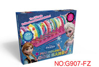 Link, Chain Bohemian other 2014 new Frozen Fun colourful loom bands DIY bracelets rubber rainbow band Anna Elsa bracelet the summer gift toy for children gift for kids